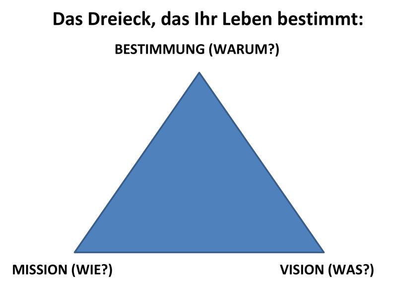 Dreieck-Bestimmung-Vision-Mission